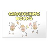 Geocaching Rocks Rectangle Decal