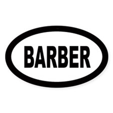 Barber Oval Decal