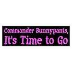Commander Bunnypants Anti-Bush bumper sticker