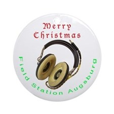 Field Station Augsburg Christmas Ornament (Round)