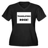 Translators ROCK Women's Plus Size V-Neck Dark T-S