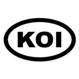 Koi Oval Decal