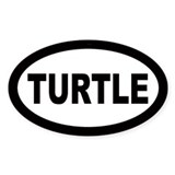 Turtle Oval Bumper Stickers