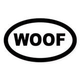 Woof Oval Decal