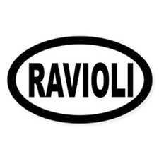 Ravioli Oval Decal