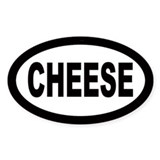 Cheese Oval Decal