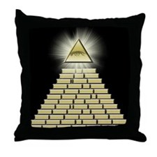 All Seeing Eye Pyramid 2 Throw Pillow