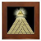 All Seeing Eye Pyramid 2 Framed Tile