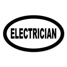 Electrician Oval Decal