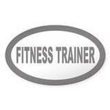 Fitness Trainer Oval Decal