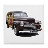 Helaine's Ford Woody Tile Coaster