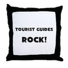Tourist Guides ROCK Throw Pillow