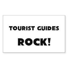 Tourist Guides ROCK Rectangle Sticker