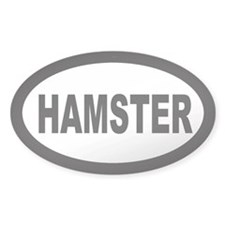 Hamster Oval Decal