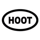 Hoot Oval Decal