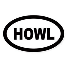 Howl Oval Decal