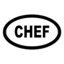 Chef Oval Bumper Stickers