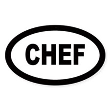 Chef Oval Stickers
