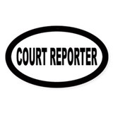 Court Reporter Oval Decal