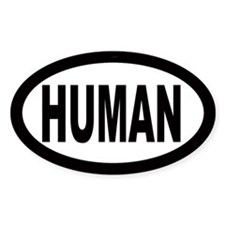 Human Oval Decal