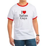 """I Love (Heart) Italian Guys"" T"