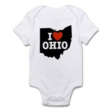 I Love Ohio Infant Creeper