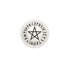 Rune Pentacle Shield Mini Button (10 pack)