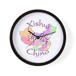 Xishui China Map Wall Clock