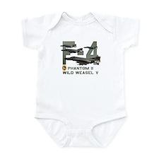 F-4 Wild Weasel Phantom Infant Bodysuit