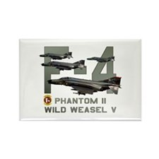 F-4 Wild Weasel Phantom Rectangle Magnet