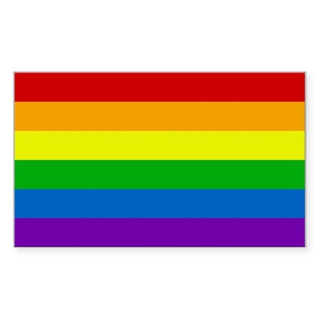 Rainbow Rectangle Sticker