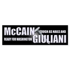 McCain & Giuliani 2008 Bumper Sticker (10 pk)