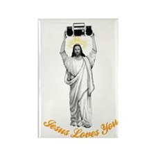 Jesus Loves You Rectangle Magnet