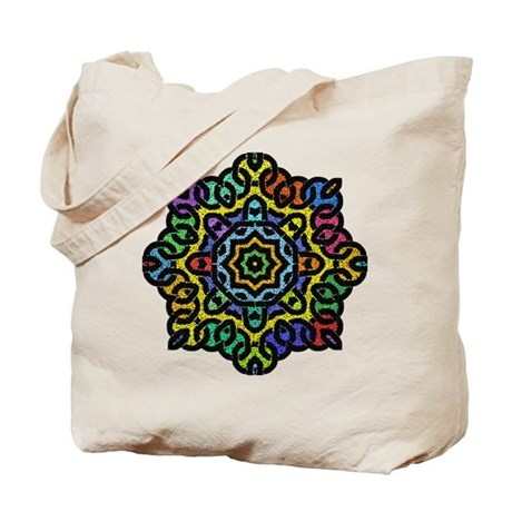 Colorful Knotwork Tote Bag