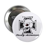 "Deadly Skull Accountant 2.25"" Button"