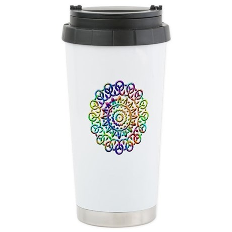 Rainbow Knots Ceramic Travel Mug
