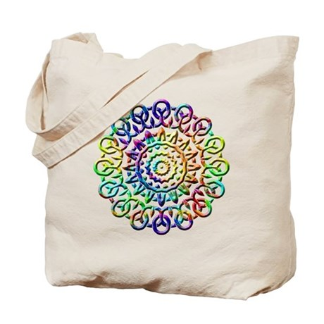Rainbow Knots Tote Bag