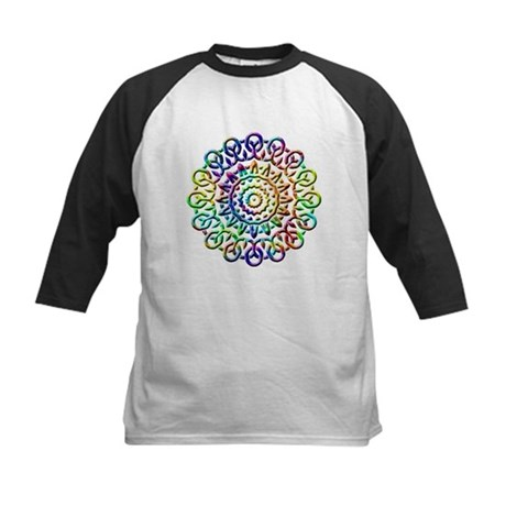 Rainbow Knots Kids Baseball Jersey