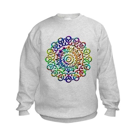 Rainbow Knots Kids Sweatshirt