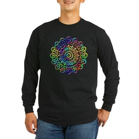 Rainbow Knots Long Sleeve Dark T-Shirt
