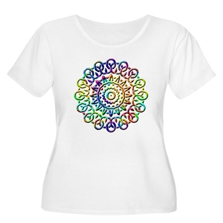 Rainbow Knots Women's Plus Size Scoop Neck T-Shirt