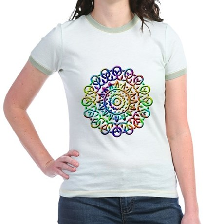 Rainbow Knots Jr. Ringer T-Shirt
