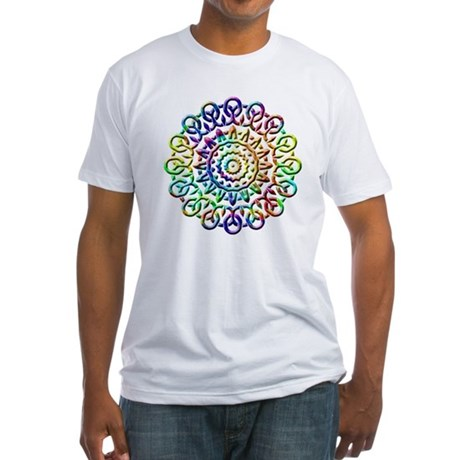 Rainbow Knots Fitted T-Shirt