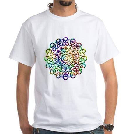 Rainbow Knots White T-Shirt