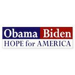 Obama Biden: Hope for America car sticker