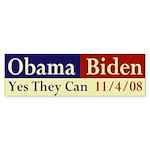 Obama-Biden: Yes They Can Bumper Sticker