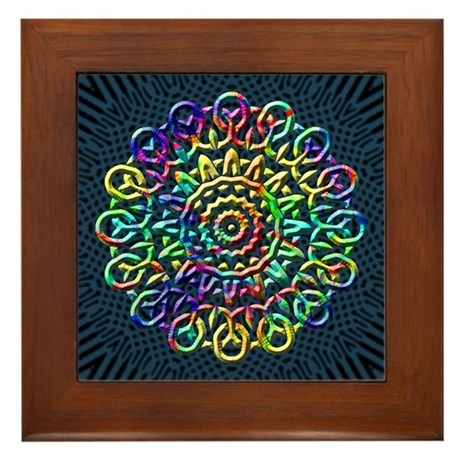 Rainbow Knots Framed Tile