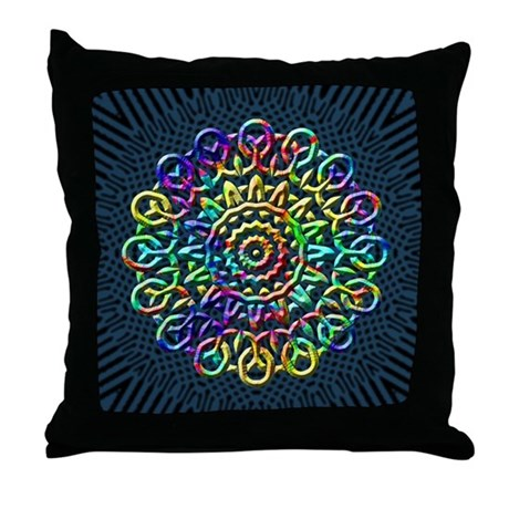Rainbow Knots Throw Pillow