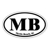 Myrtle Beach MB Euro Oval Oval Decal