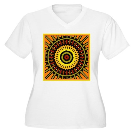 Midnight Sun Women's Plus Size V-Neck T-Shirt